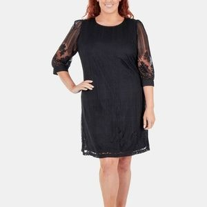 Ny Collection Plus Size Lace-Overlay Dress, 3X